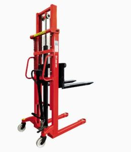 Hand Pallet Stacker 1 Ton 1.6 M Manual Forklift Manual Pallet Stacker pictures & photos