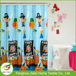 Bright Color Cartoon Pattern Waterproof Bath Shower Curtain pictures & photos