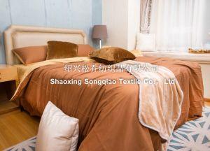 100% Cotton Plain Bed Sheet 2 pictures & photos
