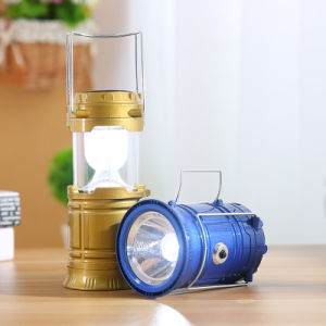 5W Portable Solar Power LED Rechargeable Tent Light Lantern Lamp pictures & photos