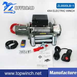 9500lb-1 Electric SUV Utility Winch with Wireless Remote Control Kit pictures & photos