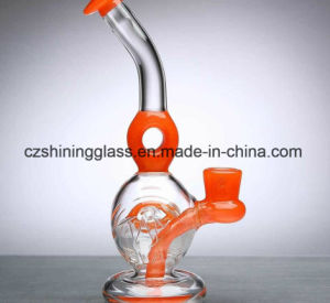 Shining with Colorful Eyes Perc Glass Smoking Water Pipe pictures & photos