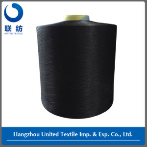 Polyester DTY 150d/48f Black+40d Spandex Yarn Draft 3.20 pictures & photos