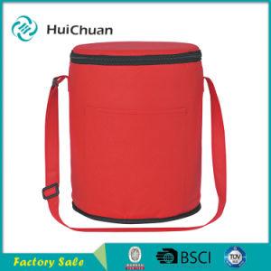 Non Woven Round Logo Cooler Bag Custom Imprinted Cooler pictures & photos