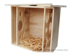 Gift Decor Wooden Wine Bottle Box Carrier Case for Dual Bottle pictures & photos