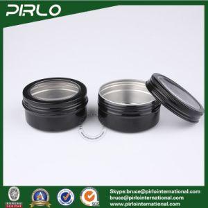 80ml Aluminum Cream Jar with Window Cap Empty Cosmetic Facial Cream Packing Container pictures & photos