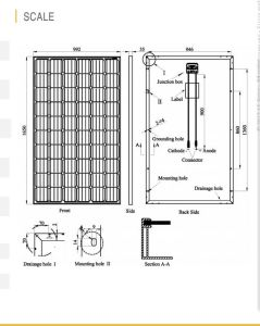 High Efficiency Mono Solar Panel (270W-295W) German Quality pictures & photos