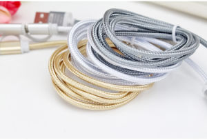 Universal Braided Micro USB + 8 Pin USB Charger Data Cable for All Cell Phone pictures & photos