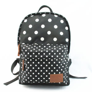 DOT Printed Polyester Back to School Backpack for Girl pictures & photos