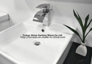 Brass Chrome Bathroom Single Handle Waterfall Basin Faucet (ZP009) pictures & photos