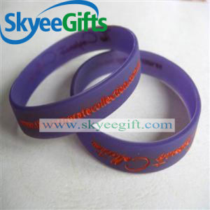 Professional Custom Rubber Silicone Bracelet for Promotion pictures & photos