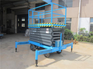 Self Propelled Mobile Hydraulic Aerial Platform (SJZ0.5-12) pictures & photos