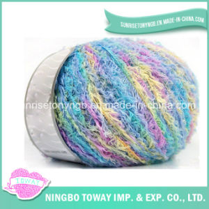 Polyester Nylon Colorful Eyelash Feather Fancy Yarn for Scarves pictures & photos