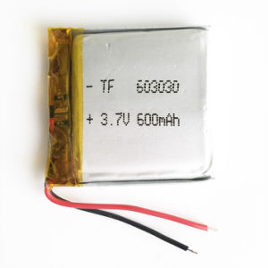 3.7V 600mAh 603030 Lithium Polymer Lipo Rechargeable Battery for MP3 MP4 MP5 DIY Pad DVD E-book Bluetooth Headset pictures & photos