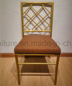 Wedding Aluminum Bamboo Chair with Fixed Seat Cushion and Cross Back pictures & photos