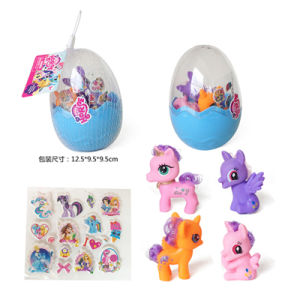 Soft Plastic Toys Horse Pony Capsule Toy with Sticker (H9496131) pictures & photos