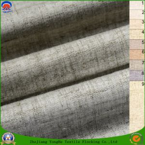 Home Textile Waterproof Flame Retardant Blackout Woven Blend Polyester Linen Curtain Fabric pictures & photos