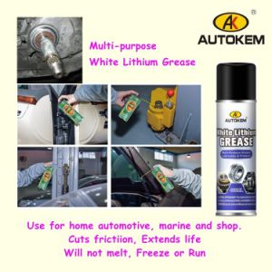 White Lithium Grease, Multi-Purpose Spray Lubricant, Long Lasting Lubrication pictures & photos