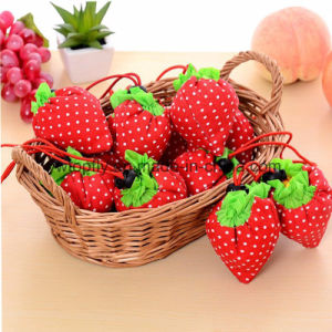 Strawberry Folding Shopping Bag for Promotional (DXB-5277) pictures & photos