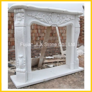 White Marble Classic Style Fireplace Mantel pictures & photos
