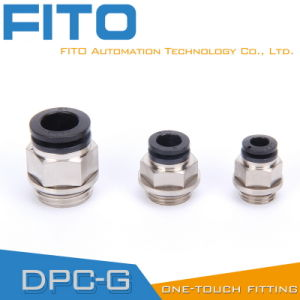 Chinese Factory Pneumatic Brass Fittings with BSPP, BSPT, NPT Thread (PC12-03) pictures & photos