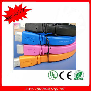 2014 Cheapest Flat HDMI Cable with Dual Color Mould Plug pictures & photos