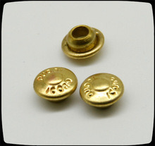 7mm Small Gold Metal Rivets, Garment Brass Rivets for Leather/ Shoes/ Clothing pictures & photos