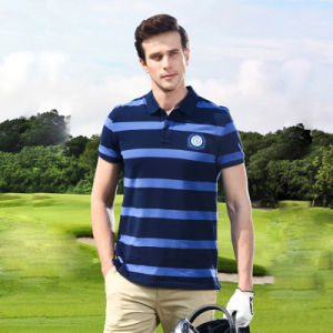 Cotton Polo Shirt Dry Fit Men′s Stripe Golf Polo Shirt pictures & photos