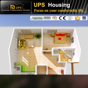 Two Bedroom Steel Structure Villa Plans Family Living Apartment pictures & photos