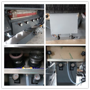Steel Cover Striaght Line 9 Spindles Flat and 45 Degree Glass Edging Machine pictures & photos