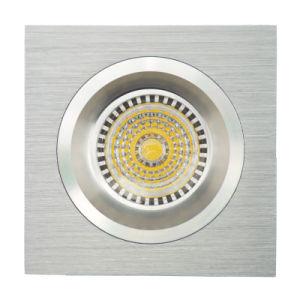 Lathe Aluminum GU10 MR16 Square Fixed Recessed Ceiling Light (LT2109) pictures & photos