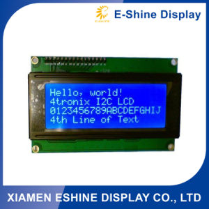 2004 Character Positive STN LCD COB Module with Blue Backlight pictures & photos