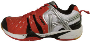 Athletic Footwear Men Squash Table Tennis Badminton Shoes (815-5120) pictures & photos