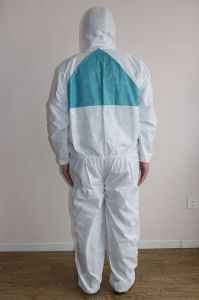 SMS Nonwoven Disposable Coverall Used for Industy Protection pictures & photos