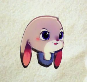 Cartoon Rabbit Brooch with Long Ears pictures & photos