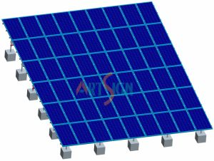 Solar PV Ground Mount on Flat Roof pictures & photos