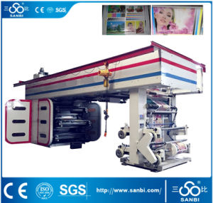 6 Color High Speed Central Drum Flexographic Printing Machine pictures & photos