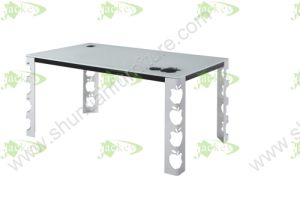(ST-163) Home Furniture Korean Style Tempered Glass Dining Table pictures & photos