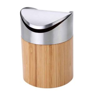 Bamboo Mini Waste Basket for Household or Office pictures & photos
