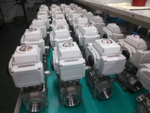 Ss304 /Ss316 Electric 3PC Ball Valve 220V AC/110V AC/ 24V DC pictures & photos