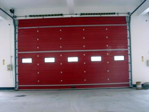 Ce Approved Warehouse Garage Sectional Industrial Gate with Viewers pictures & photos