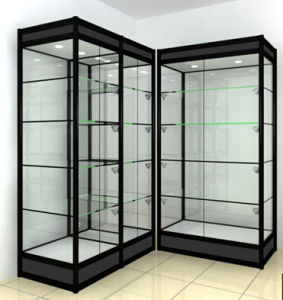 Mordern Design Standing Showcase Glass Display Cabinet with LED Light