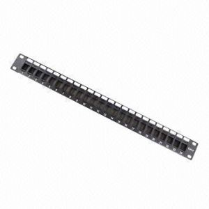 UTP 24-Port Blank Patch Panel Available CAT6 or Cat5e pictures & photos