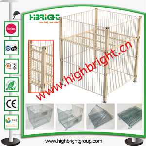 Mesh Box Wire Container Metal Bin Storage Cage pictures & photos