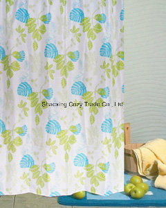Leaves Design Fabric Shower Curtain pictures & photos