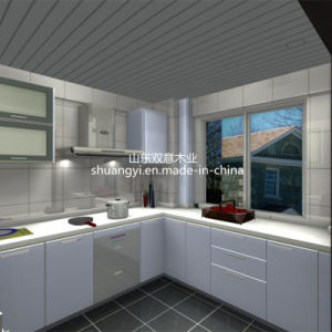 MDF MFC Plywood Particle Board Kitchen Cabinet pictures & photos