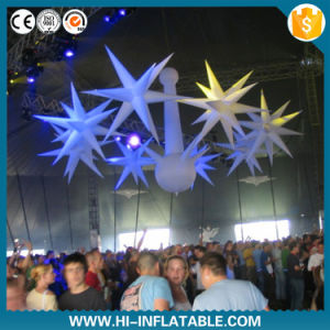 Hot Selling Beautiful Christmas Party Decorations Inflatable Star with LED Light