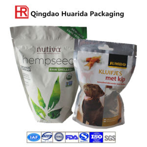 Flexible Pet Stand up Plastic Packaging Food Bag with Zipper pictures & photos