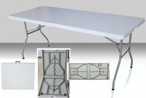 Rectangular HDPE Plastic Fold-in-Half Table pictures & photos