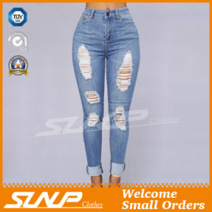 Ladies Leisure Clothing Fashion Denim Jeans with Hole